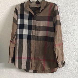 Burberry Women Long Sleeve Shirt Beige Color S